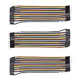 AptoFun 3 piezas 40x20cm Cable Raspberry Pi macho-macho / Cable Arduino / Cable de puente ...