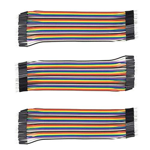 AptoFun 120 Pezzi Maschio-Maschio cavetti per Raspberry pi 3 cavetti/Cavi arduino/arduino Jumper/Wire Cable/Wire Arduino(3 * 40 Pin Maschio-Maschio)