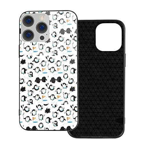 Wateroroof - Carcasa para iPhone 12, diseño de pingüino, color blanco