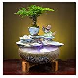 Hong Yi Fei-Shop Fuente de Interior Chino Feng Shui Turning Fountain Fountain...