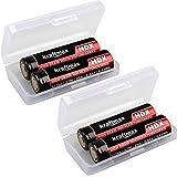 kraftmax 4er Pack HDX High Drain Akku - 3,7V / 25A / 9,62 Wh - Akkus speziell für E Zigaretten/E Shisha mit Schutzschaltung
