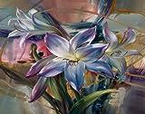 WYLUWLI flores púrpuras por kit digital DIY pintura pintura acrílica sobre lienzo decoración moderna para el hogar arte de la pared sin marco 40x50cm