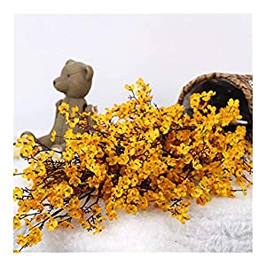 Silk Flower Arrangements MFSL Artificial Flowers Baby's Breath Gypsophila Fake Flowers DIY Wedding Decoration Home Bouquet Faux Flowers Branch (Color : Orange)