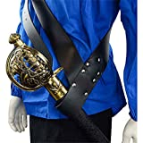 Cinturón De Cuero Espada Soporte De Rana Guerrero Medieval Funda De Espada Ajustable Renacimiento Cosplay Cinturón De Espada Largo Unisex para Hombre Mujer