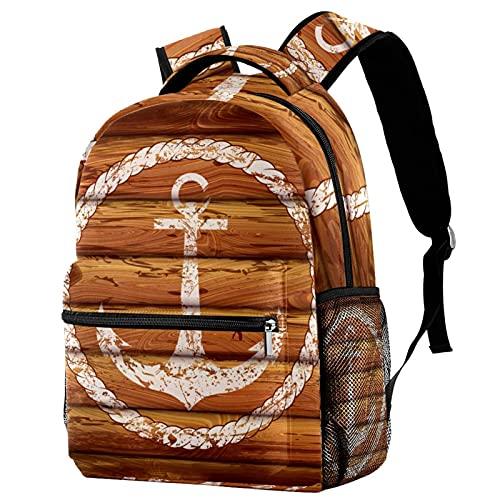 delayer Mochila de viaje unisex Ancla náutica blanca Mochila para portátil al aire libre de moda mochilas para niños y niñas