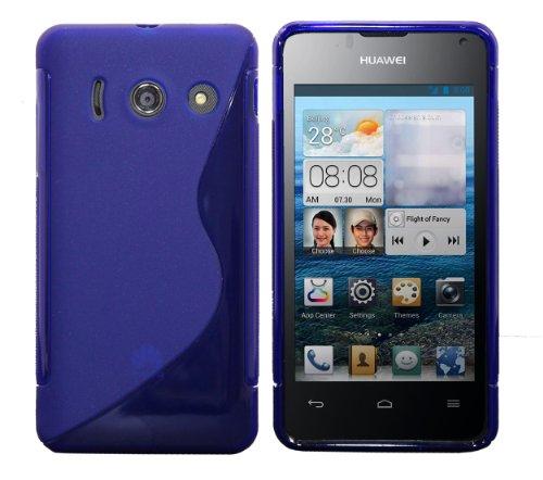 Luxburg® S-Line Design Schutzhülle für Huawei Ascend Y300 in Farbe Kobalt Blau, Hülle Hülle aus TPU Silikon