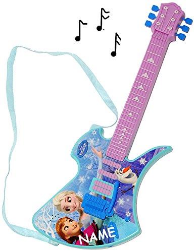 alles-meine.de GmbH elektrische E-Gitarre -  Disney die Eiskönigin - Frozen  - incl. Name - akustische - Kindergitarre - mit Verzerrer ! spielt auch 3 Lieder ! - für Kinder - a..