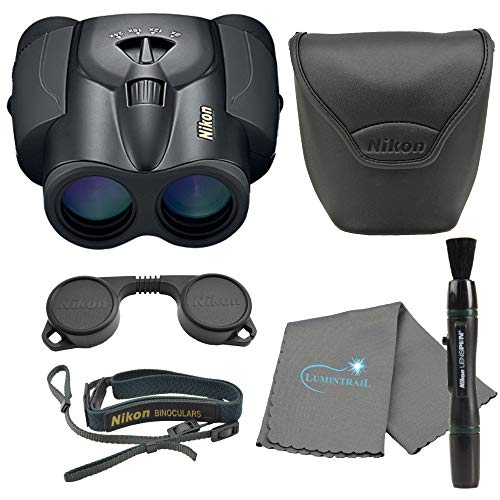 Nikon Aculon T11 Zoom 8-24x25mm Binoculars, Compact & Lightweight, Black Bundle with a Nikon Lens Pen and Lumintrail Cleaning Cloth