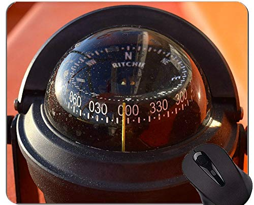 Compass Mouse Pad Rutschfeste, multifunktionale Kompass-Gummi-Mausunterlage