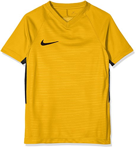 Nike Y NK Dry Tiempo Prem Jsy SS T-shirt, Niños, University Gold/ University Gold/ Black/ Black, XL