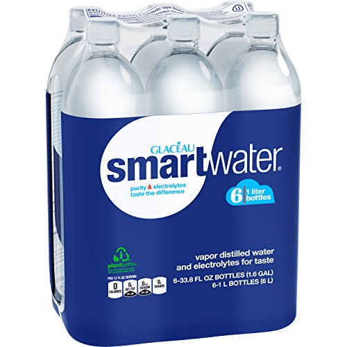 Smartwater Packaged Drinking Water, 33.8 Fl Oz (pack of 6)