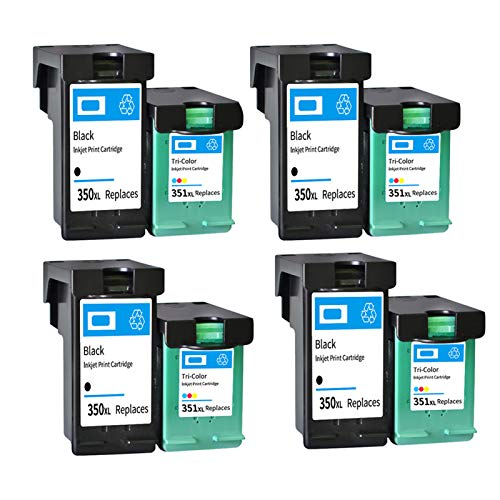 Cartucho de tinta remanufacturado de alto rendimiento para HP350XL 351XL, para impresora HP D4200 J5370 J5700 6400 4 sets