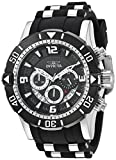 Invicta Men's Pro Diver Stainless Steel Quartz Diving Watch with Polyurethane Strap, Black, 26 (Model: 23696)