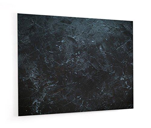 """Impression Murale® - Fond de hotte, crédence de cuisine en Verre de synthèse avec fixation adhésive""""Texture ardoise"""" L. 90 x H. 70 cm - Epaisseur 4 mm"""