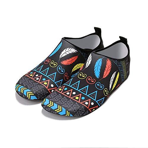 QYJY Waterschoenen, waterschoenen, voor dames en heren, blote voetsokken, sneldrogend en gezellig voor het strand snorkelen surfen duiken yoga-oefeningen