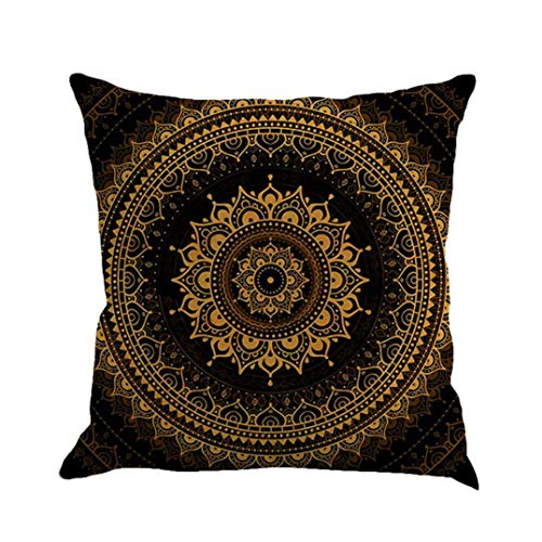 Ode_Joy Boemia Stampa Geometrica Cuscino in Cotone e Lino-Home Decorative Cotton Linen Square Set di Wine Pillow Case Sham Cuscino-Cuscini Decorativi Accessori,Copricuscini da Letto,Cuscini Letto