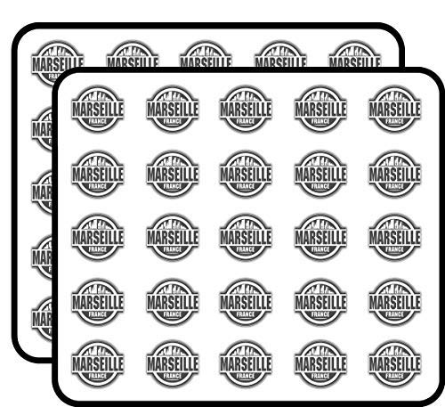 Marseille City Frankrijk Label Vinyl Stickers Grappig Leuke voor Kids DIY Crafts, Scrapbooking, Laptop, Bumper Auto Stickers, Stickers voor kinderen, 50 Pack
