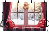 新しい250x180cmのクリスマスの背景冬のスノーフレーク枕窓ムーンリースホリデーファミリーパーティーキッズ写真背景装飾写真スタジオの小道具