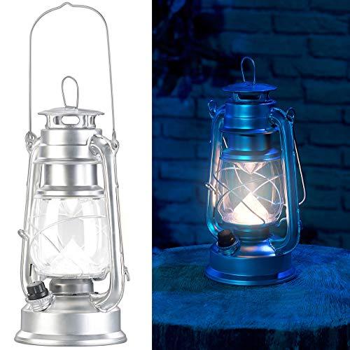 Lunartec Akku Leuchte: Ultra helle LED-Sturmlampe, Akku, 200lm, 3W, tageslichtweiß, silbern (Kabellose Laterne)