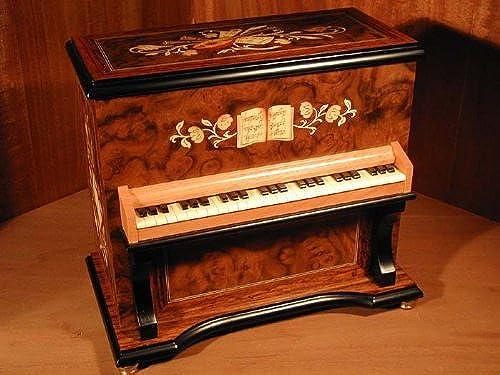 DEICHERT Spieluhren 103.030 -  Spieluhr Klavier mit 30-Ton Laufwerk  (Spieldose, Musikdose)