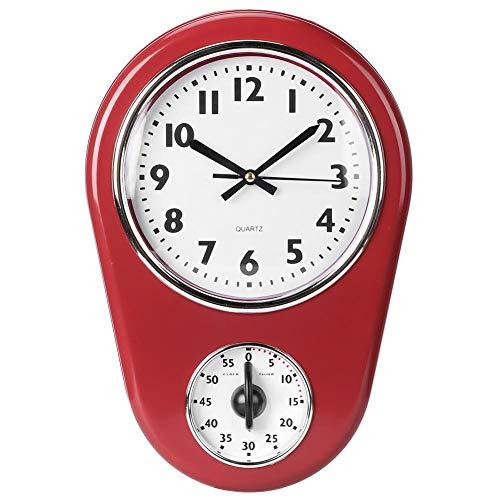 Estilo Vintage Reloj Colgante de Pared Reloj Grande casa Cocina Temporizador de Montaje en Pared Dormitorio de la Oficina Sala de Estar decoración