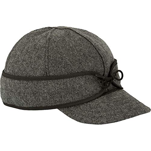 Stormy Kromer Original Kromer Cap - Winter Wool Hat with Earflap Charcoal