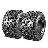 Set of 2 MaxAuto 20x10-9 ATV Tires 20x10x9 Rear Quad Sport Tires All Terrain UTV Tires 20x10.00-9 Tubeless 6PR Mud Sand Snow Tires