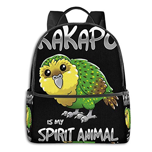 XCNGG Anime Kakapo Spirit Animal Classic Student School Bag School Cycling Leisure Travel Camping Outdoor Backpack