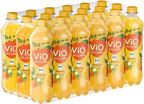 ViO BiO Limo Orange, Fruchtiges Geschmackserlebnis mit 20% Saftanteil, Vegane bio Limonade mit Geschmack, EINWEG Plantbottle (18 x 500 ml)