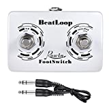 Dual Momentary External Footswitchfor Drum Machine & Guitar Effects Pedal FootSwitchwith 6.35mm StereoCable