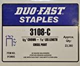 Duo-Fast 3108-C 3/8' Crown 1/4' Leg Chisel Point Staples ( 23,380 )