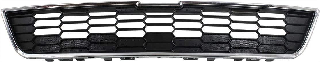 Grille Assembly Compatible with CHEVROLET SONIC 2012-2016 Upper Textured Gray LS/LT/LTZ Model Hatchback/Sedan