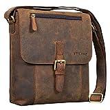 STILORD 'Matthias' Herren Umhängetasche Leder Vintage Messenger Tasche 10.1 Zoll Tablettasche klein Schultertasche echtes Rinds-Leder, Farbe:Colorado - braun