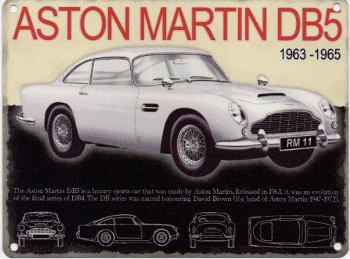 Original Metal Sign Co Plaque Métallique Pancarte Voiture Classique Aston Martin DB5 20X15cm (OG)