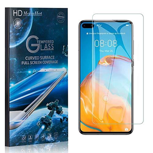 MelinHot Displayschutzfolie für Huawei P40, 99% Transparenz Schutzfilm aus Gehärtetem Glas, 9H Härte, Keine Luftblasen, 3D Touch, 3 Stück