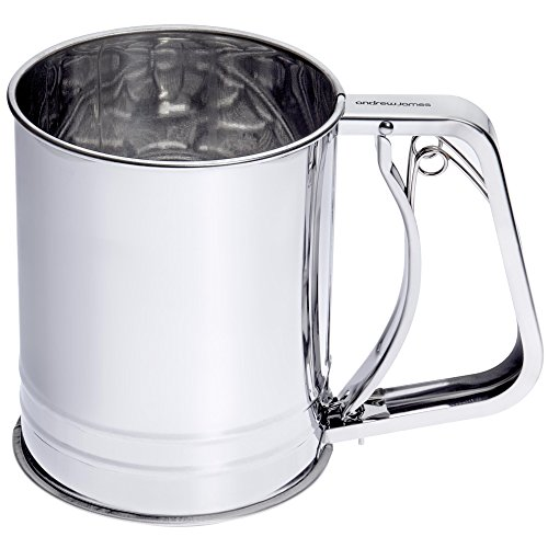 Andrew James Flour Sifter with Trigger Action Hand