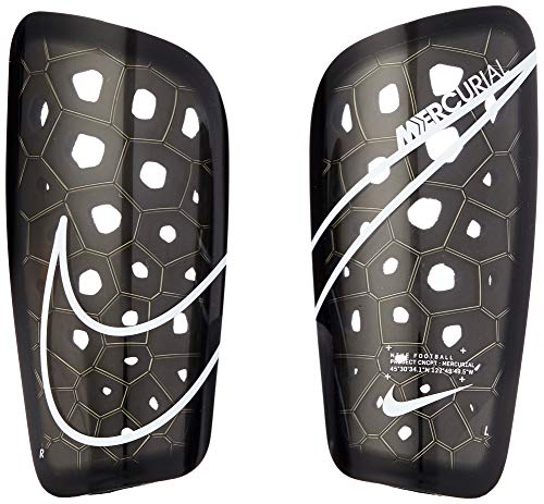 Nike Mercurial Lite Shin Guard (Black/Black/White, Large)