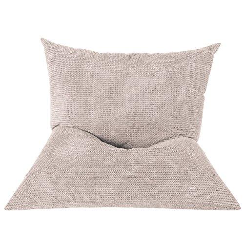 Lounge Pug®, Riesen Sitzsack XXL, Sitzkissen, Pom-Pom Creme