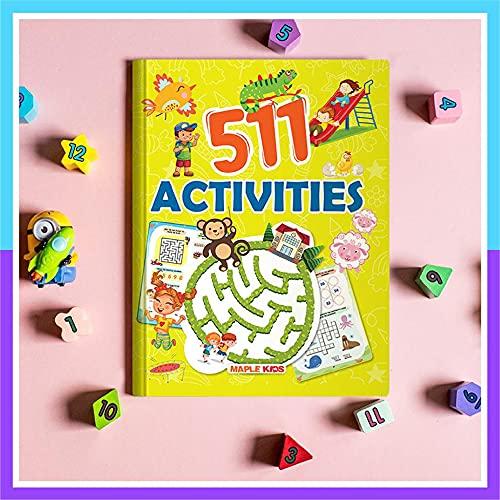 Activity Book - 511 Brain Activities for Kids - Dot to Dot, Puzzles, Mazes, Maths, Crosswords