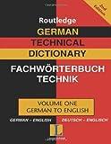 German Technical Dictionary/Worterbuch Fur Technik Englisch: German-English/Deutsch-Englisch - Not Available
