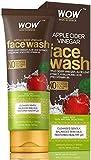 Glamorous Hub WOW Vinagre de sidra de sidra de manzana, lavado facial sin parabenos, siliconas de sulfato y tubo de 100 ml de color (el embalaje puede variar)