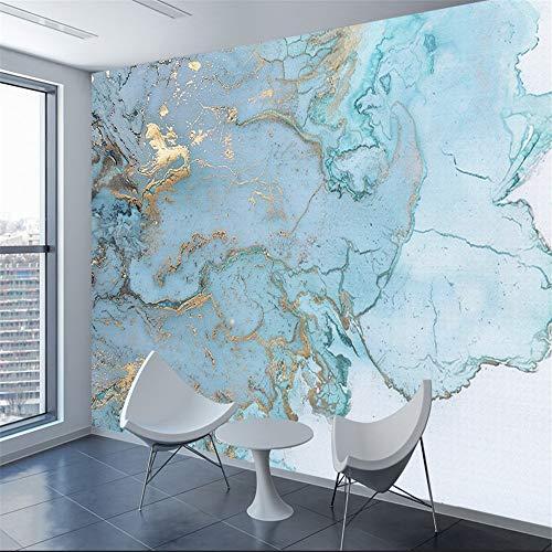 Ziegel marmor muster 3d papier mural zimmer tapete dekoration blau gold wand rolle tv hintergrundbild, 250 * 175 cm