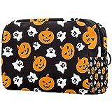 Cosméticos bolsa de aseo Bolsas de viaje bolso de negocios impermeable Halloween divertido calabaza fantasma 18.5x7.5x13cm