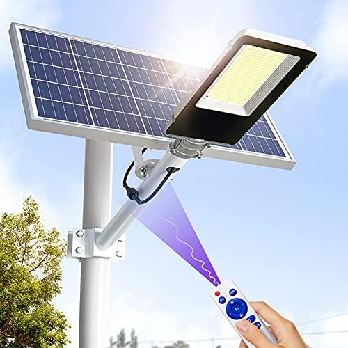 1600W Solar Street Lights Outdoor Dusk to Dawn 62000 Lumens Solar Powered Light Motion Sensor Waterproof IP67 Security Solar Led Flood Light for Parking Lot/ Stadium/ Yard/ Garage/Garden…