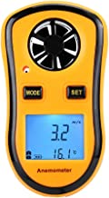 LCD Digital Anemometer, Handheld Wind Speed and Air Temperature Measuring Instrument for Flying, Sailing, Surfing, Fishing