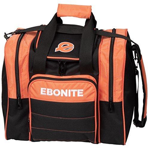 Ebonite Impact Plus 1 Ball Bowling Single Tasche mit Platz für Ball, Schuhe und Zubehör in Orange