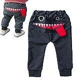 Vavshop Pantalon Toddler Bébé Garçon Jambières de Langue Requin Sarouel pour Les Enfants de 0 à 4 Ans (Gris, 3-4Y)