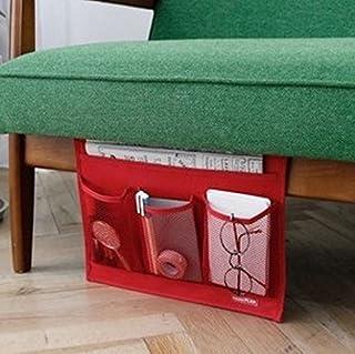 【 ベッド サイド ポケット 】 こたつ や テーブル の リモコン ラック 小物 整理 (レッド)