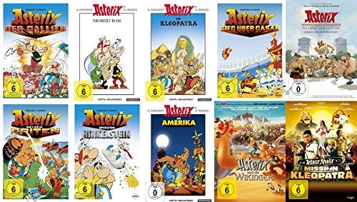 10x Asterix - Mega Collection - Der Gallier - Kleopatra - erobert Rom - bei den Briten - Sieg über Cäsar - Wikinger - im Land der Götter - Amerika - Hinkelstein 10 DVD Edition
