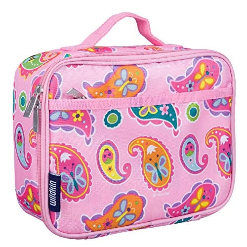 Wildkin Kids Insulated Lunch Box for Boys and Girls, Perfect Size for Packing Hot or Cold Snacks for School and Travel, Mom's Choice Award Winner, BPA-free, Olive Kids (Paisley)